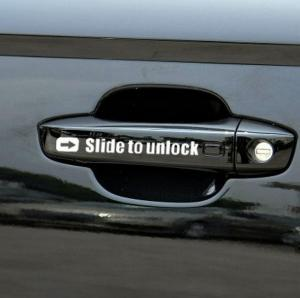Slide to unlock Aufkleber