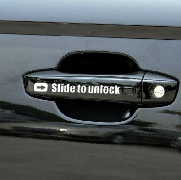 Slide to unlock Aufkleber