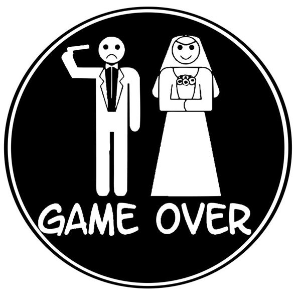 Aufkleber «Game Over»
