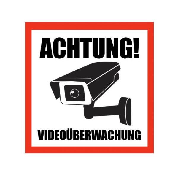 Aufkleber Achtung Videoüberwachung