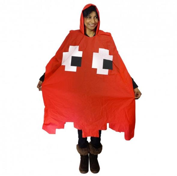 Regenponcho Pixel Monster