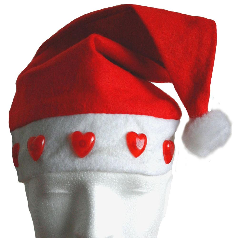 Weihnachtsmütze Samichlaus blinkend