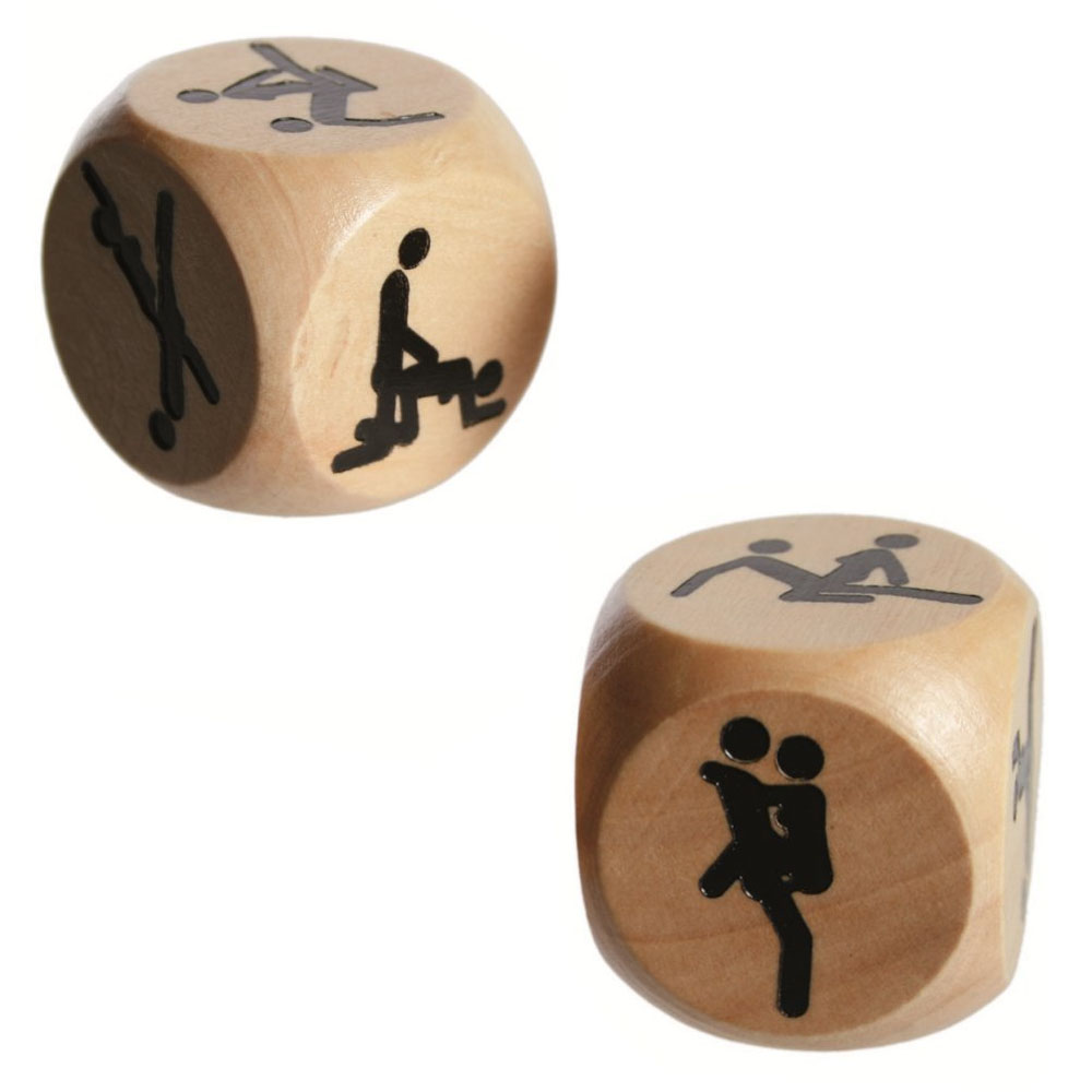 Kamasutra Liebeswürfel aus Holz