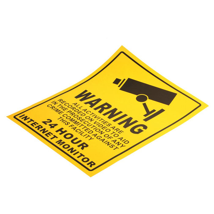 Aufkleber Warnung Kameraüberwachung