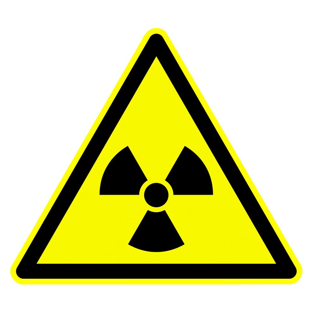 Aufkleber Warnung Radioaktive Stoffe