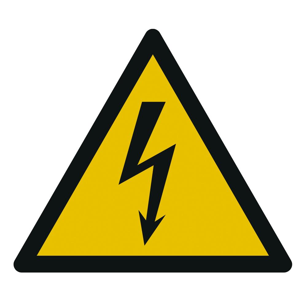 Aufkleber Warnung Elektrische Spannung