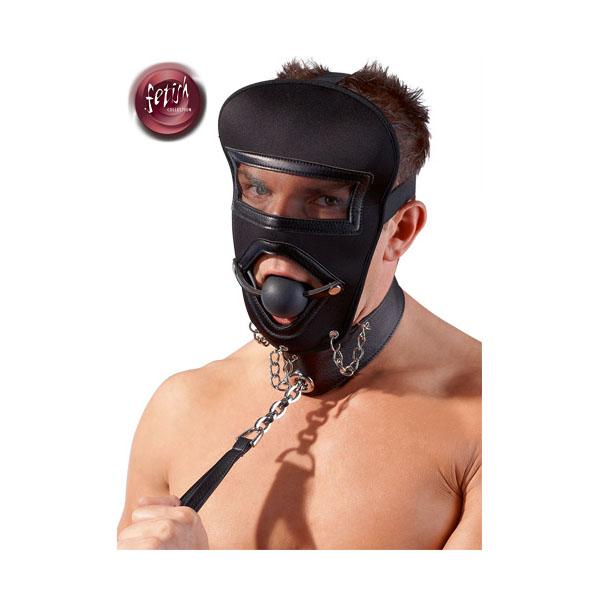 Kopfmaske mit Leine
