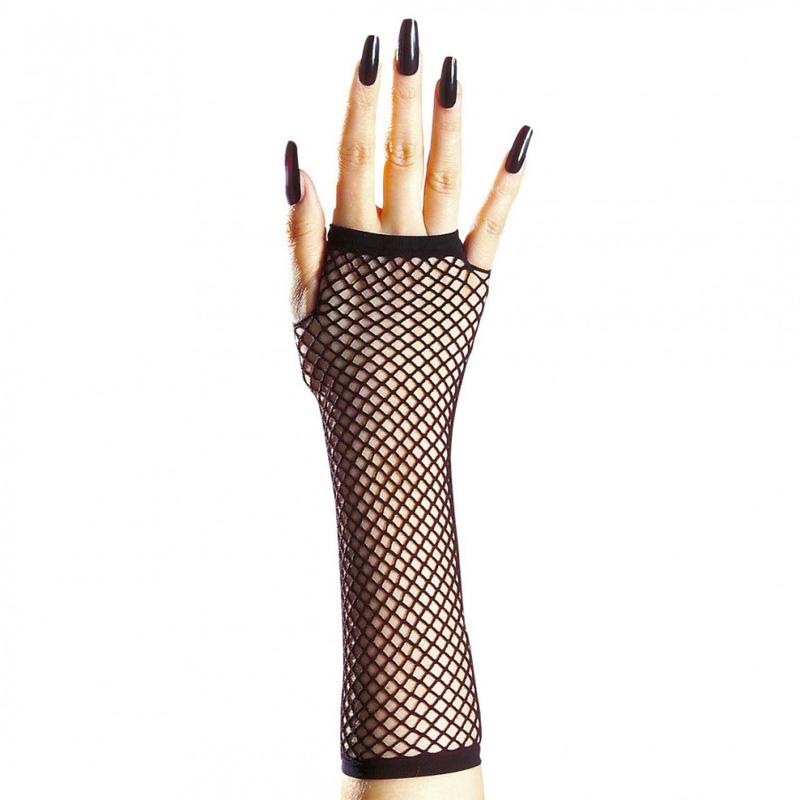 Netzhandschuhe Fingerlos Schwarz