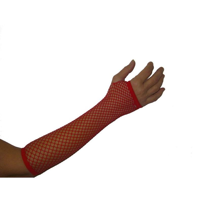 Netzhandschuhe Fingerlos Rot