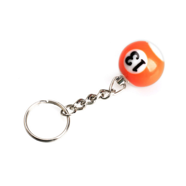 Schlüsselanhänger Billardkugel