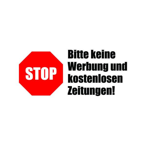 Briefkasten Aufkleber Stop Werbung