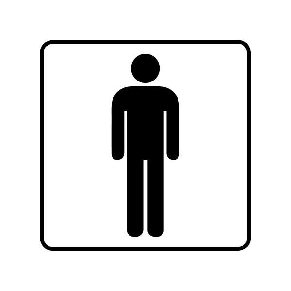 WC Toiletten Aufkleber Herren