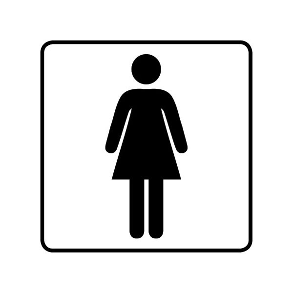 WC Toiletten Aufkleber Damen